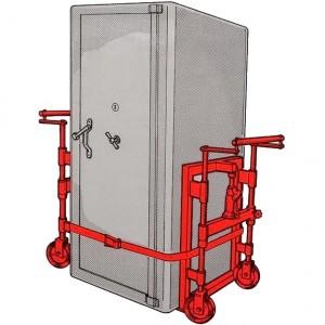 Diable lève-charge avec élévation par vérin hydraulique - Capacité 1800 kg, 3000 kg et 3800 kg