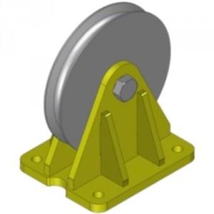 Réa sur roulement avec support FIXE RSFR - Ø 125 mm à 570 mm