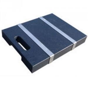 Patin carré en inox PMCC pour stabilisateurs de grues et nacelles - Capacité 15 t - Format 500x500x40 mm