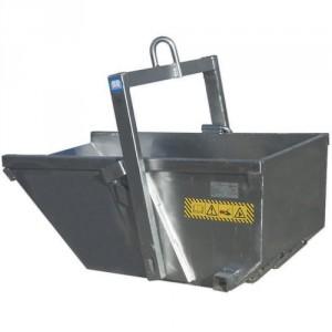 Benne à palonnier rabattable autobasculante ADLU en ALUMINIUM 300 litres à 500 litres - Capacité 600 kg à 1000 kg