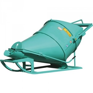 Benne à béton couchée BLFC 300 litres à 1000 litres - Capacité 780 kg à 2600 kg