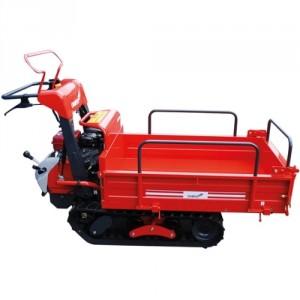 Mini transporteur essence avec benne à ridelles basculantes BRB - Capacité 350 kg.