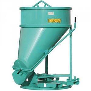 Benne connique avec dévesrement latéral BSTF 300 litres à 1000 litres - Capacité 780 kg à 2600 kg