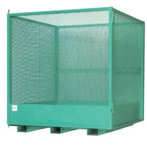 Cage sécurisée pour la manutention de palettes