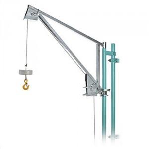 Élévateur de chantier avec potence PIVOTANTE - Capacité 150 kg, Hauteur de levage 40 m, Vitesse 30 m/min