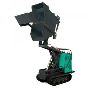 Mini transporteur kit ciseaux essence / diesel avec benne et pelle chargeuse MHTKCB - Capacité 700 kg