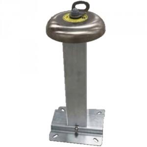 Potelet aluminium tube carré 80x80 H=500 1 PERSONNE - Conforme EN 795-A1