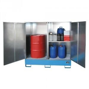 Armoire pour produits dangereux 217BGS230 équipé d'un planché en caillebotis - Volume de rétention 200 Litres à 1085 Litres