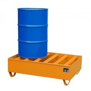 Bac de rétention 217BPW060 - Volume de rétention 242 Litres à 435 Litres - Capacité de 600 kg à 1200 kg