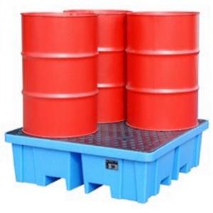 Bac de rétention 217BWPAPE080 en PE - Volume de rétention 230 Litres et 1150 Litres - Capacité 400 kg à 2000 kg