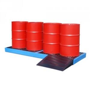 Plateforme de rétention BWPPE - Volume de rétention 150 Litres et 300 Litres - Capacité 1000 kg et 2000 kg