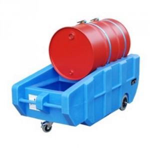 Bac de rétention BWPT mobile en PE - Volume de rétention 230 Litres - Capacité 44 kg
