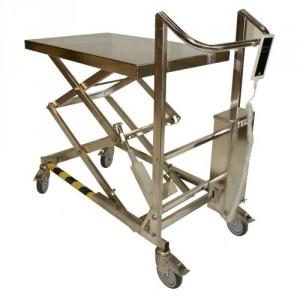 Table élévatrice INOX semi-électrique TMI 24V ou 230V - Capacité 100 kg