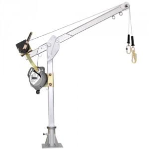 Potence de levage et de secours transportable en acier inoxydable - Conforme à la norme EN 795 Classe B
