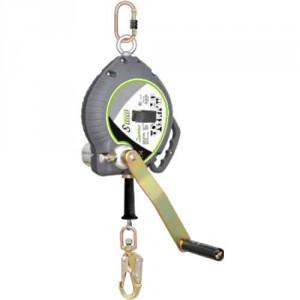 Antichute à rappel automatique avec manivelle de récupération et câble acier galvanisé - Longueur 20 m
