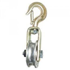 Poulie à chape pour corde avec réa aluminium PAC - Capacité 150 kg à 500 kg