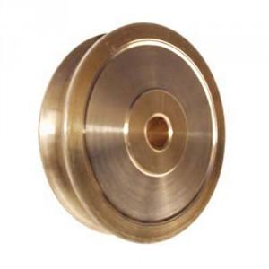 Réa pour corde en BRONZE usiné (RZB) et sur roulement inox (RZBI) - Ø 22 mm à 115 mm