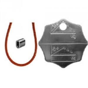 124PC2 - Plaque de charge et d'identification en ACIER pour élingue 2, 3 ou 4 brins