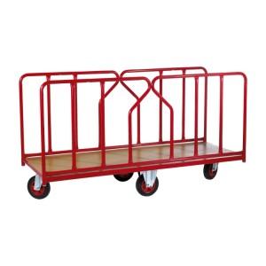800*5343 - Chariot pour charges longues 500 kg PLATEAU 1800X800 équipé de ridelles amovibles