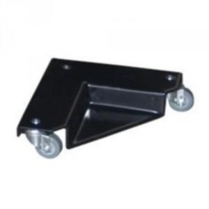 860*8083 - Coins roulants métalliques enrobés de PVC antidérapant 400 kg, hauteur d'appui 26 mm