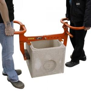 Pince PBT pour bordures & boîtes de largeur 0 à 580 mm avec poignées ou guidons - Capacité 250 kg