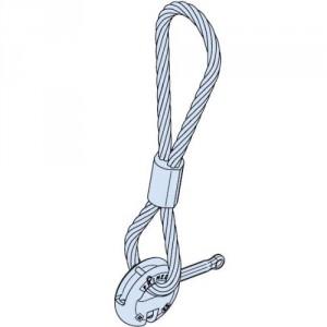 Anneau de levage avec boucle de câble FRIMEDA TPA-R2 / TPA-R3 - Force 1,25 t à 26 t