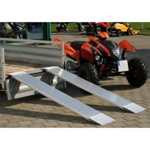 AOH - Rampes de chargement en aluminium allégées - Capacité de 200 kg à 400 kg par paire - Longueurs de 1,50 m à 2,48 m