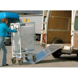 AOS-F - Rampes de chargement en aluminium repliables - Capacité de 400 kg à 650 kg par paire - Longueurs de 2 m à 3 m