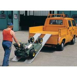 AOS - Rampes de chargement en aluminium - Capacité de 450 kg à 1200 kg par paire - Longueurs de 1,50 m à 4,00 m