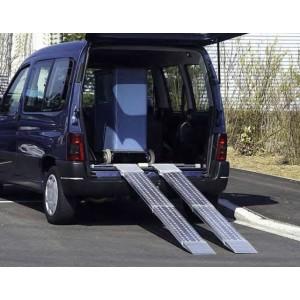 AOS-W - Rampes de chargement en aluminium repliables et articulées sur un axe - Capacité de 330 kg à 600 kg par paire - Longueurs de 2 m à 2,84 m