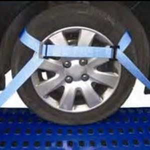 Arrimage de roue 2 points Haute Sécurité AR2 en sangle 50 mm avec tendeur à cliquet et crochet DR