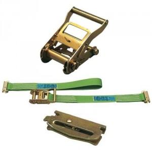 Arrimage INTERIEUR 45 mm 50IP en 2 parties avec tendeur à cliquet et poussoirs - LC 800 daN