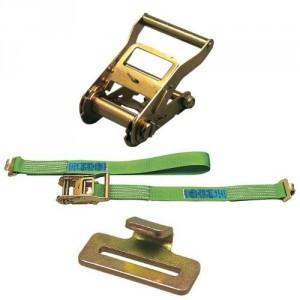 Arrimage INTERIEUR 45 mm 50IPL en 2 parties avec tendeur à cliquet et crochets à languette - LC 800 daN