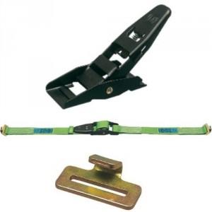Arrimage INTERIEUR 45 mm 50ISPL en 2 parties avec tendeur à levier et crochets à languette - LC 800 daN