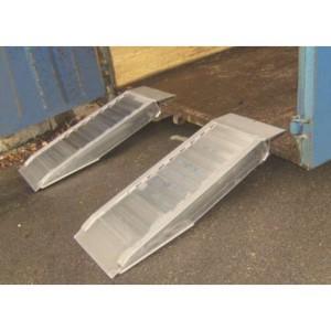 AVSB 150 - Rampes de chargement en aluminium spéciales bennes au sol - Capacité 7300 kg par paire - Longueur 1 m à 2 m