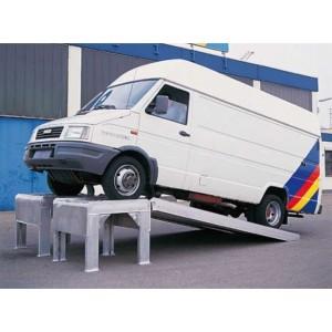 R - Rehausses en aluminium - Capacité 3310 kg à 7800 kg par paire - Longueur 1,97 m à 2,48 m