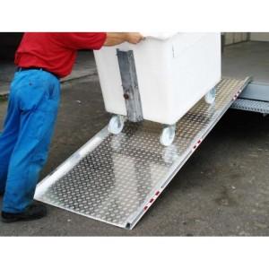 AWR - Rampe de chargement en aluminium avec rebords de 50 mm - Capacité 320 kg et 400 kg unitaire - Longueurs 1,985 m et 2,490 m