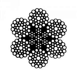Câble acier galvanisé 6 torons de 36 fils avec âme métallique - Ø 10 mm à 52 mm