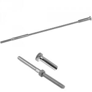 Câble acier INOX avec 1 terminaison à oeil et 1 terminaison dôme