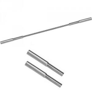 Câble acier INOX Ø 3 mm à 6 mm avec 2 terminaisons à filetage interne