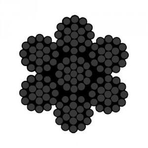 Câble acier NOIR spécial THÉÂTRE 7 torons de 19 fils avec âme métallique - Ø 3 mm à 10 mm