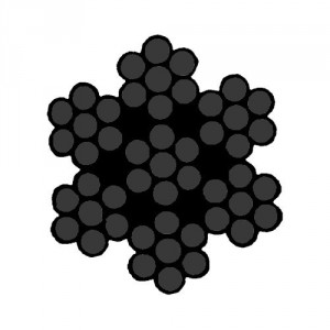 Câble acier NOIR spécial THÉÂTRE 7 torons de 7 fils avec âme métallique - Ø 1 mm à 4 mm