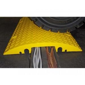 CB 265 - Passages de câbles ou de tuyaux en PVC recyclé - Capacité 4000 kg - Passage de câbles 2 canaux Ø 40 mm et 2 canaux Ø 35 mm