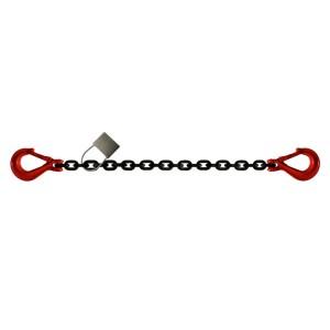 Chaîne d'arrimage HR grade 80 C6 avec 2 crochets standards avec linguet - Ø 8 mm à 16 mm (LC 4000 daN à 16000 daN)
