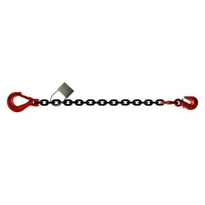 Chaîne d'arrimage HR grade 80 C7 avec 1 crochet de réglage et 1 crochet standard avec linguet - Ø 8 mm à 16 mm (LC 4000 daN à 16000 daN)