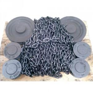 Chaîne calibrée polie pour transmission GRADE 80 suivant norme NFE 26011 (pas = 3 x Ø) - Ø 8x24 mm à 20x60 mm