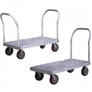 Chariots avec plateau aluminium et 1 dossier amovible - Capacité 550 kg