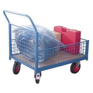 Chariots caisse grillagés - Capacité 500 kg