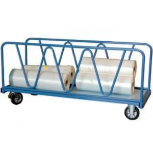 Chariot 1200 kg 2 ridelles tube plateau 2000x800 roues Ø200