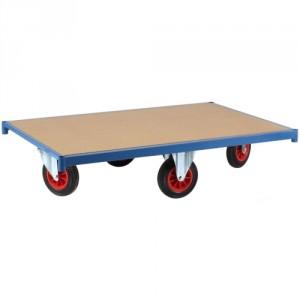 800*4060 - Plateau roulant en médium 16 mm (roues en losange) - Capacité 500 kg - Roues en losange : Rotation complète (360°) sur place pour les espaces restreints